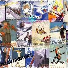 Wall mural - Ski Resorts Collage