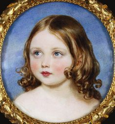 Princess Victoria, the Princess Royal, at about  5 Years Old.  William Charles Ross (1794 – 1860, English)