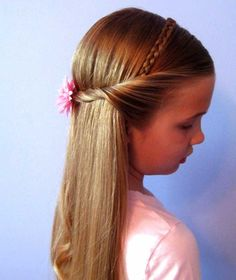 Hairstyle for little girls - braided headband with ropes :: one1lady.com :: #hair #hairs #hairstyle #hairstyles
