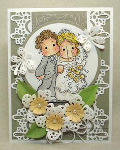 Luscious Laces Wedding Card