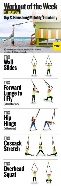 #TRXWOW Week 1: Hip & Hamstring Mobility/Flexibility. Work the shoulders, hips, and lower back. TRX is a great tool to increase range of motion and flexibility. TMB Coaching, Seattle personal training, personal trainer.