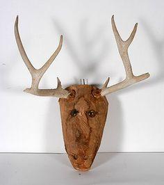 Jesse Aaron. Deer Head With Antlers. : Lot 583
