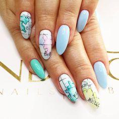 by Agata Kaczmarek, Follow us on Pinterest. Find more inspiration at www.indigo-nails.com #nailart #nails #indigo #babyblue