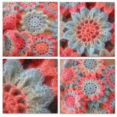Japanese Flower Crochet Scarf 1 by rosyjojo