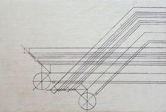 Segment lines/wood/ink 2015