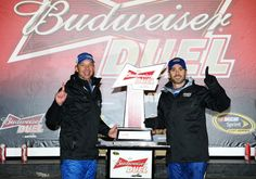 Jimmie Johnson Chad Knaus Photos: Budweiser Duel