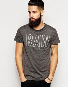 Enlarge G Star T-Shirt Basswood Raw Logo Print