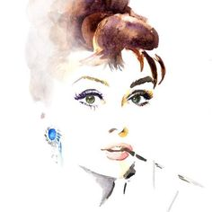 Audrey. LOVE watercolor.