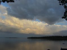 My lake Lentua in Kuhmo (Finland) just before storm on 8th of August 2013.
