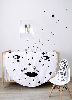 White MOON ALPHABET / ABC / Play Mat/  Floor Rug / Nursery Decor / Hand Printed  #wowmomdesign #playmat  #boysroom #girlsroom #babymat #babyplaymat #moon #moonplaymat #Kidsroom #childrensroom #Kidsdecor #kidsinterior #kidsinspo #kids #interior  #style #baby #kidsdesign