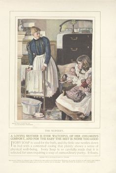 1899+Ad+Ivory+Soap+Mother+in+Nursery+with+Baby+Girl+Alice+Barber+Stephens+Art++++11899LES
