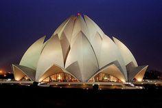 Lotus Temple in New Delhi   Image source: http://amazingindiablog.in/lotus-temple-bahai-house-worship/