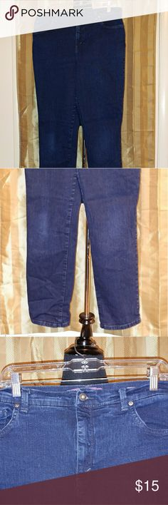 "Misses Size 14 Average: Dark Blue Jeans Pre-loved but great condition. Gloria Vanderbilt ""Amanda"" jeans. Smoke free home. Gloria Vanderbilt Jeans Straight Leg"