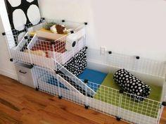Cute C&C cage! Plain colors+polka dots