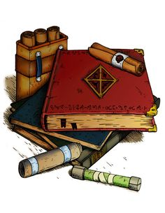 Magic Scrolls and Books by Celurian on deviantART