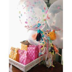 Prepare yourself for squeals of delight from your little guests and all those young at heart with this gorgeous and unique set of three confetti balloons by Poppies for Grace! Jumbo Balloons, Giant Balloons, Confetti Balloons, Latex Balloons, Circus 1st Birthdays, 1st Birthday Parties, 7th Birthday, Online Party Supplies, Kids Party Supplies