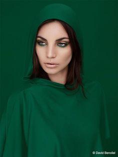 monochrome emerald green