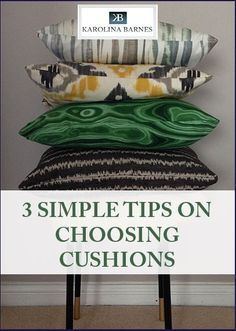 Struggling to pick cushions for your living room or bedroom? Here are 3 designer tips to help you get through the clutter and pick the ones you like.