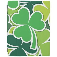 Luck of the Irish Shamrock Design iPad Cover