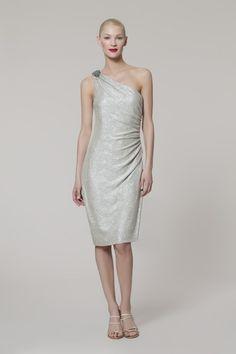 Maggy London metallic one shoulder dress $148