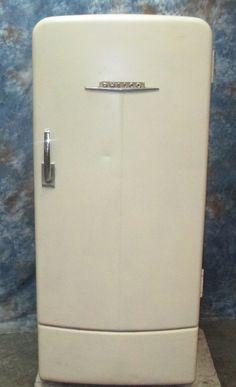 Glass refrigerator vintage