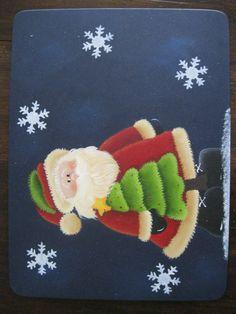 Individual Navideño. Christmas Paintings, Yard Art, Pintura Country, Snowman, Stencils, Xmas, Lily, Printables, Quilts