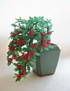 Bonsai en perles Pyracantha en perles - Firethorn