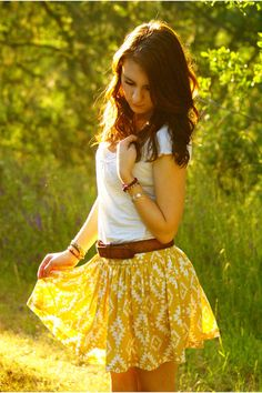 """Gold Forever 21 Skirts 