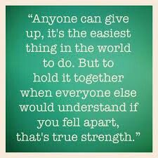 Being strong for everyone!