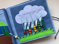 Handmade quiet book PAGE counting busy book page abacus