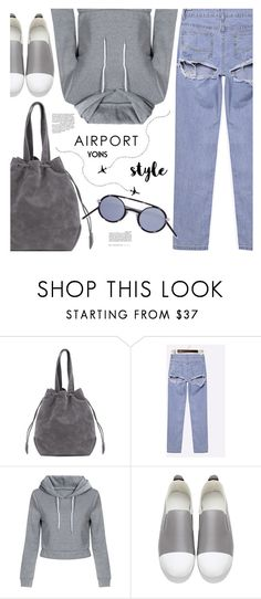 """Jet Set: Airport Style(yoins 22)"" by meyli-meyli ❤ liked on Polyvore featuring Christian Dior"