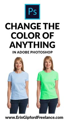 Learn how to change the color of (almost) anything in a photo using Adobe Photoshop #adobephotoshop #howtochangecolorinphotoshop #photoshoptutorial