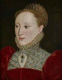 Queen Elizabeth I  I've never seen this portrait before and there were no sources, so I can't verify it.