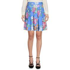 La Fille Des Fleurs Knee Length Skirt ($47) ❤ liked on Polyvore featuring skirts, pastel blue, floral flare skirt, blue floral skirt, jersey knee length skirt, blue jersey and elastic waist skirt