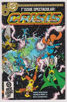 Crisis on Infinite Earths; Vol 1, 1, Copper Age Comic Book.  NM- (9.2). April 1985.  DC Comics #crisisoninfiniteearths #comicsforsale