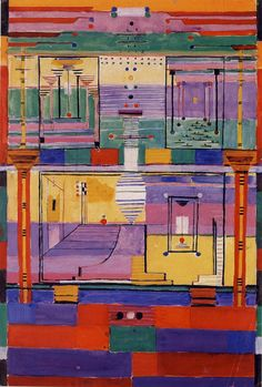 Textiles Of the Bauhaus .Gunta Stolzl Collage (1924).  Note: Designs for weavings were often executed in mixed media.
