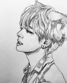 An adorable sketch of Tae