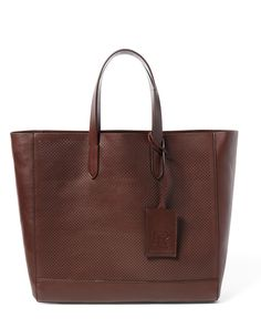 Perforated Calfskin RL Tote