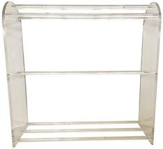 One Kings Lane Vintage Lucite Towel Holder - nihil novi