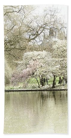 """Interior design ideas with gray colors. Bath Towel featuring the photograph """"St. James Park London"""" by Judi Saunders."""
