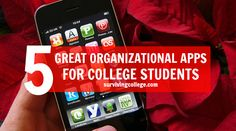 5 Great Organizational Apps for College Students // #College