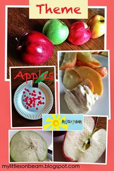My Little Sonbeam: September Week 3 theme: apples! Homeschool preschool learning activities for a 2, 3, and 4 year old. Apple science, snack and craft ideas. Mylittlesonbeam.blogspot.com Follow on Facebook