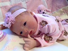 Reborn Baby Doll Hand painted by me at Sophia's Parlor. Available for purchase on Ebay at Sophias_Parlor