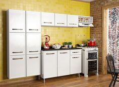 Cozinha Bella 260cm de largura Coleção Bella   Cozinhas Bertolini Cozinha compacta de aço