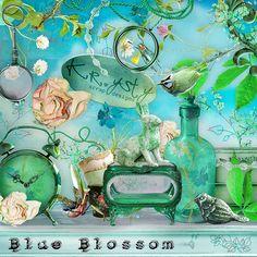 Blossom Blue by Krysty Scrap Designs