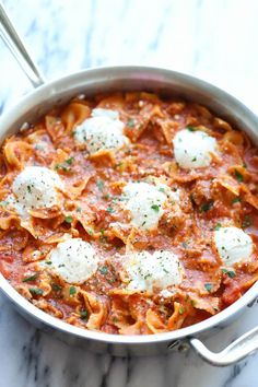 Easy One Pot Lasagna