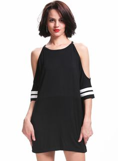 Shop Black Off the Shoulder Loose Dress online. Sheinside offers Black Off the Shoulder Loose Dress & more to fit your fashionable needs. Free Shipping Worldwide!