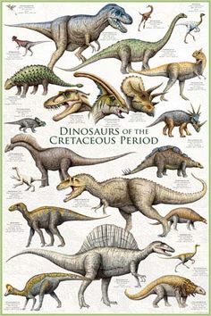 The dinosaurs of the Cretaceous Period.