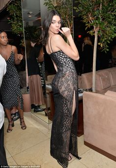 Cheeky! Jenner's see-through dress flashed plenty of skin