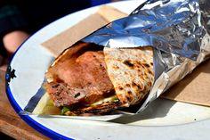 Bacon Wrap at Baby Bombay Street Kitchen | www.rachelphipps.com @rachelphipps